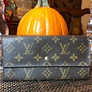 Authentic LV Portefeuille Sarah Wallet